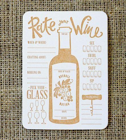 Rate Your Wine Letterpress Coasters  sc 1 st  Pinterest & Rate Your Wine Letterpress Coasters | INACTIVE Crafting \u0026 DIY ...