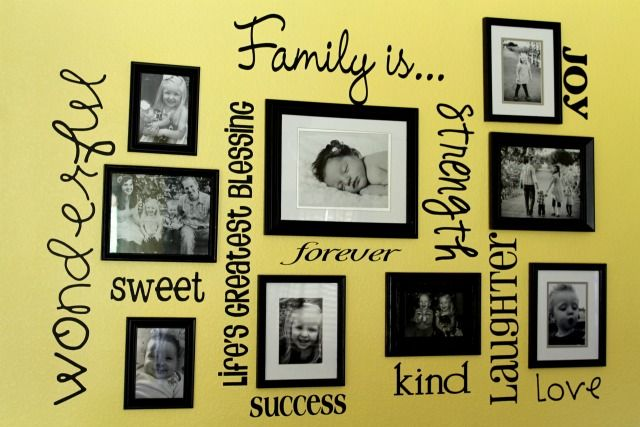 Oh so love this, what a cute family wall! | For the House ...