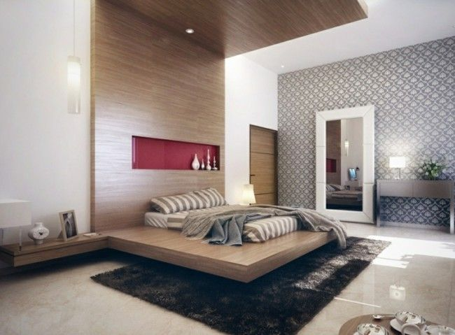 Ideen Schlafzimmer Moderne Tapeten Wandverkleidung Design
