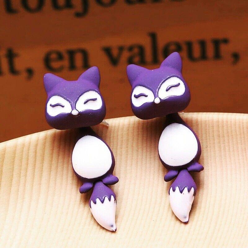 Adorable fox earrings