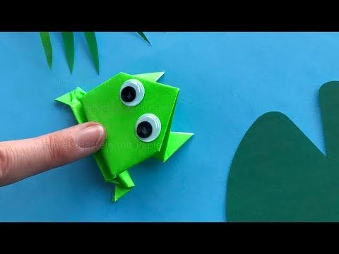 Origami jumping frog: Paper frog that jumps high and far � Easy tutorial