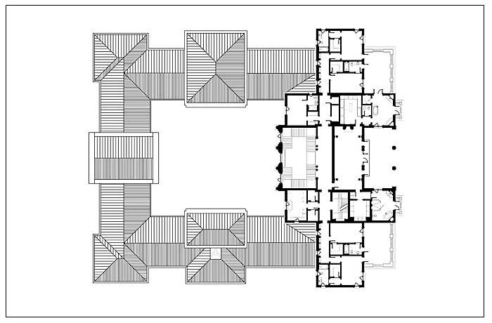 Upper Floor Plan Of The Indian Creek Estate By Dlvg Architects In