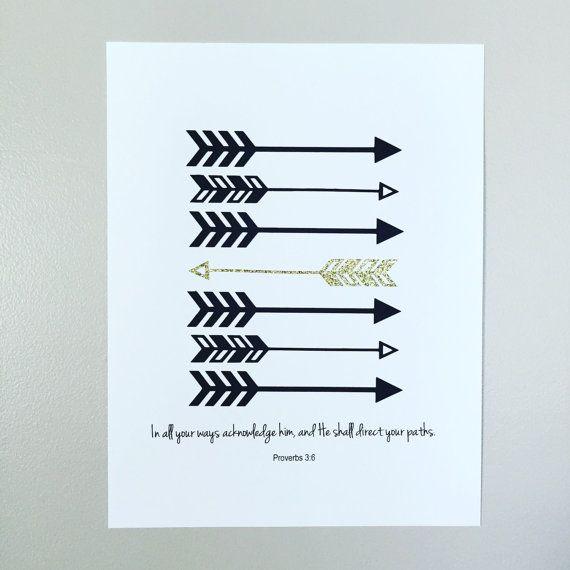 Proverbs 3:6 Arrow Print