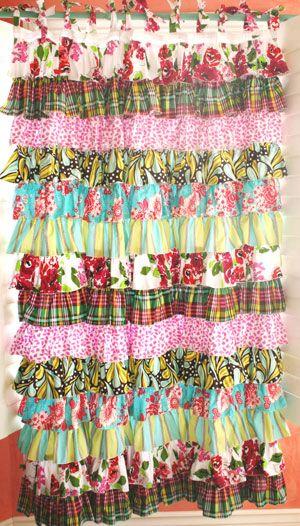 Ruffle Curtain for Shower, window or closet.