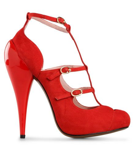 70202ff1a31 Hoss Intropia red three-buckle pumps Posted by Shoeperwoman