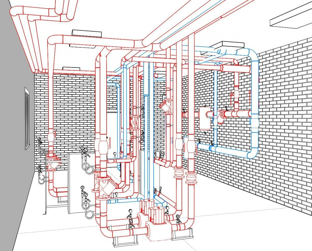 hight resolution of pipe in the revit mep