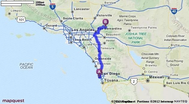 San Diego To Big Bear >> Driving Directions From San Diego California To Big Bear