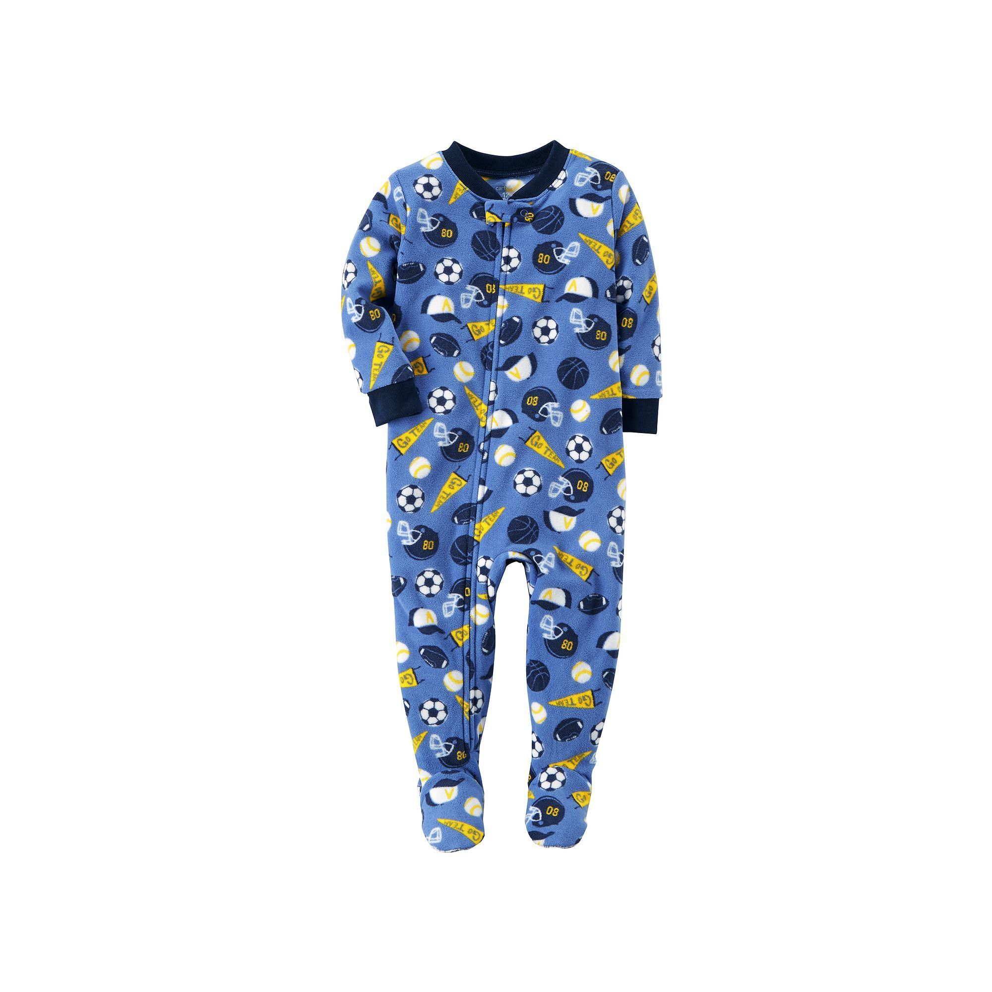 abb56f7c7 Carter s Toddler Boy Sports Fleece Footed Pajamas