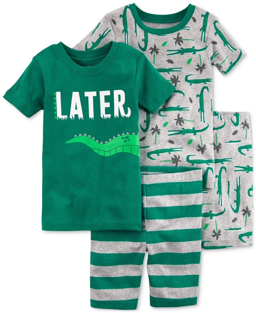 262bfe0abb15 Carter s 4-Pc. Alligator Cotton Pajama Set