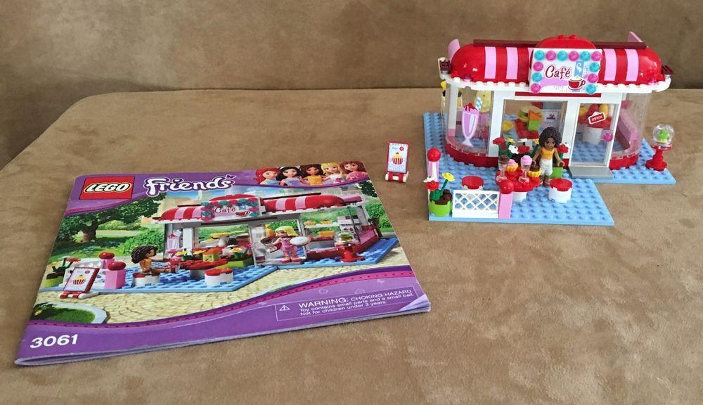 3061 Lego Complete Friends Park Cafe Heartlake City Restaurant