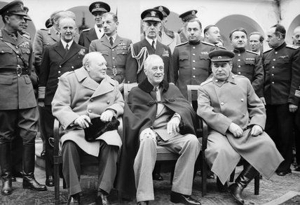 Crimean Conference Roosevelt Joseph Stalin-1945 Franklin D Winston Churchill
