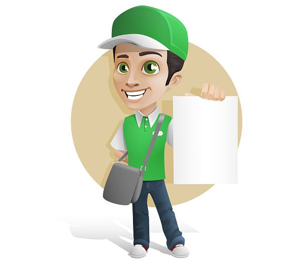 Delivery Boy Vector Character Free Download | Cartoon