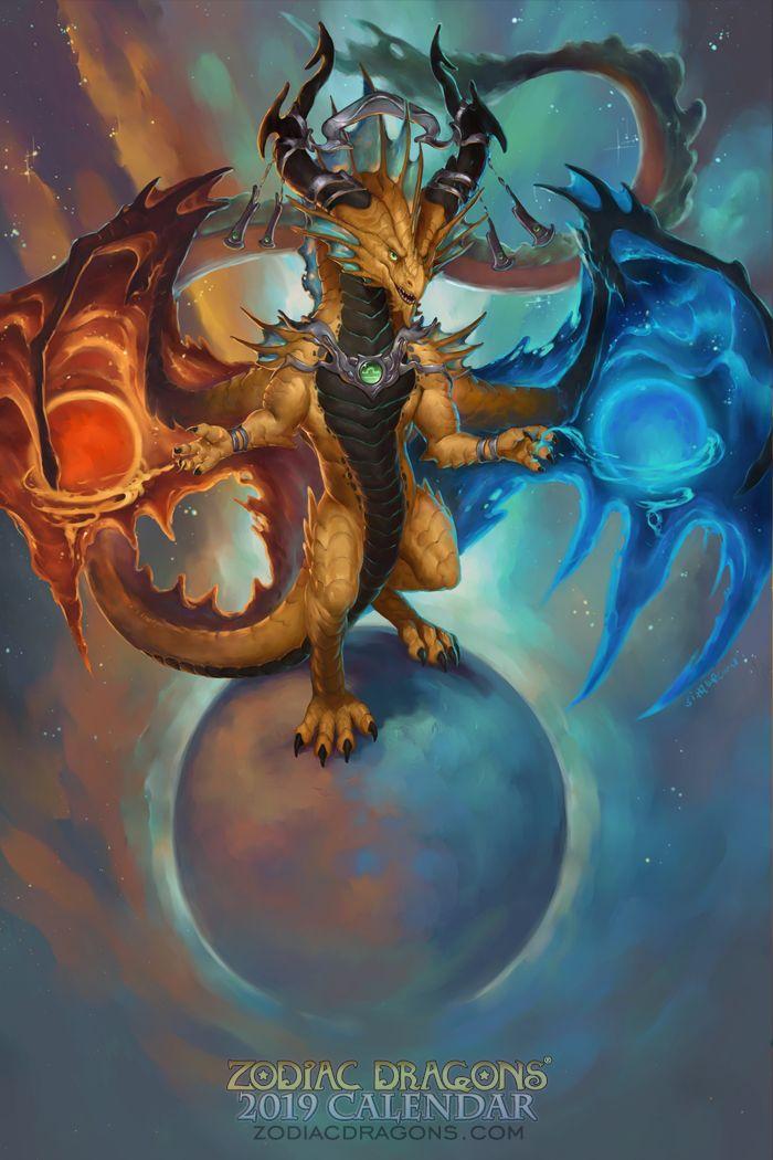 Zodiac Dragon Libra Artwork Art