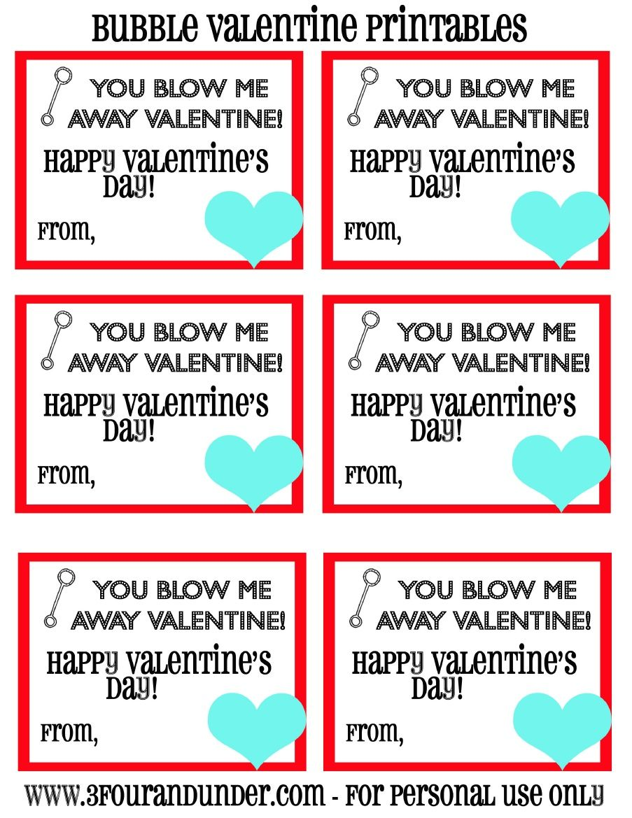 Blow Me Away Valentine Printable With Images Valentines Printables Bubble Valentines Valentines