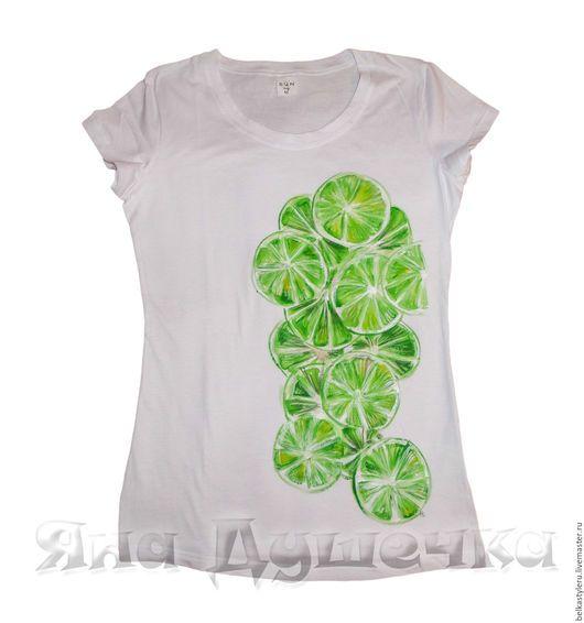 372d960f450 T-Shirts   Singlets handmade. Livemaster - handmade. Buy T-shirt hand  painted lime.T-shirt