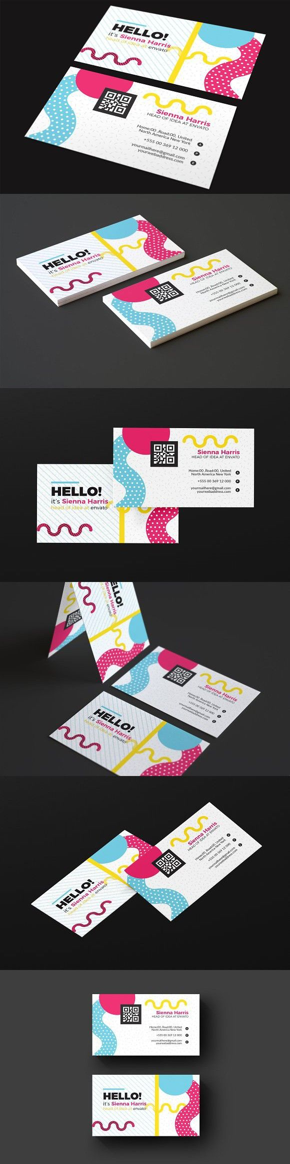 Memphis Business Card | Memphis, Business cards and Business