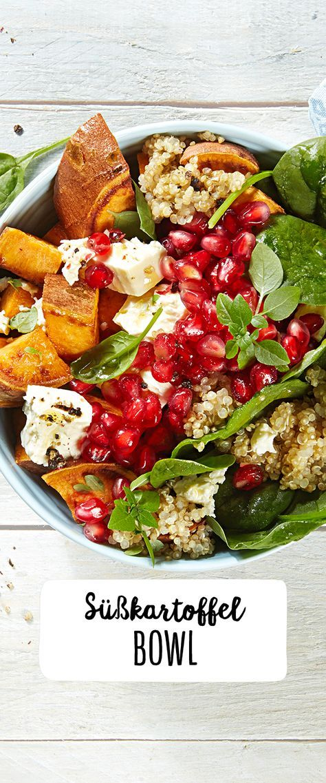 Photo of Sweet potato and spinach salad with quinoa & pomegranate