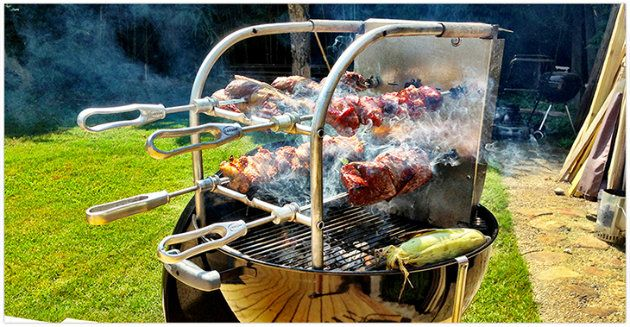 Try This At Home Brazilian Style Rodizio Outdoor Cooking Recipes Brazilian Bbq Kettle Bbq