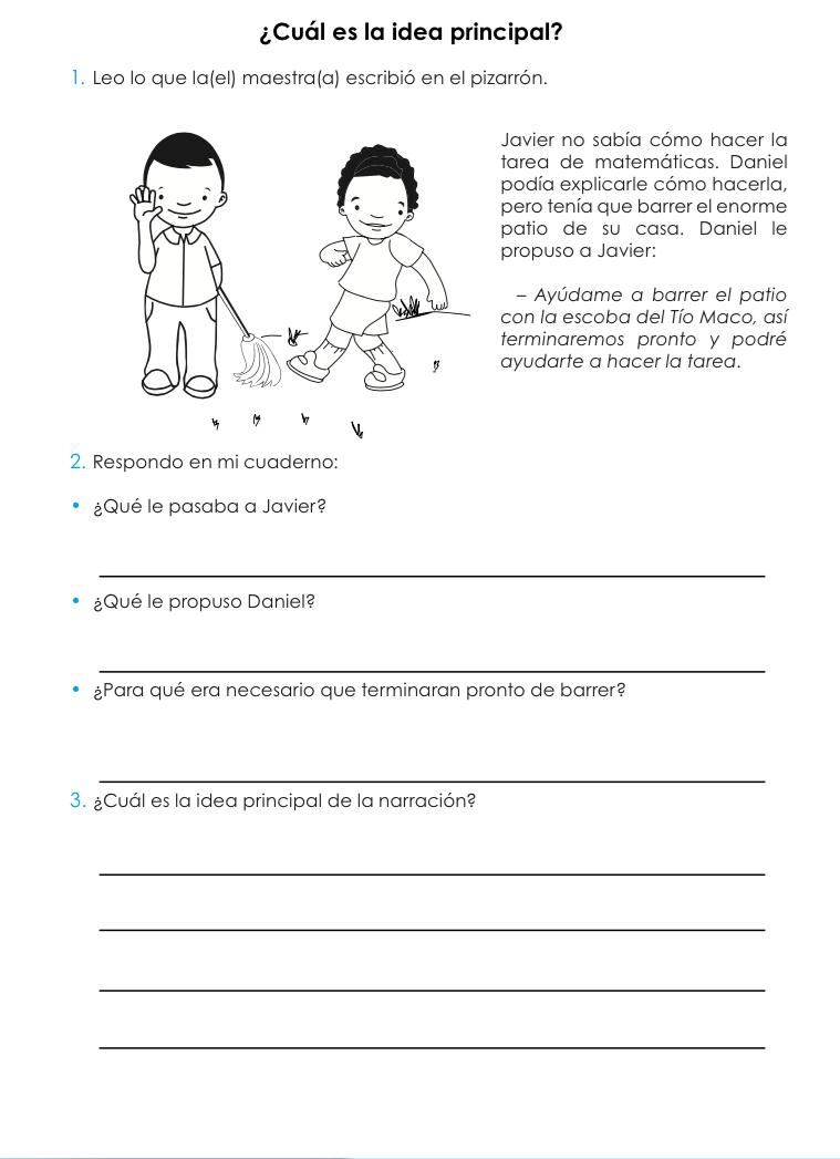 Cuál es la idea principal.png | Lengua Española | Pinterest ...