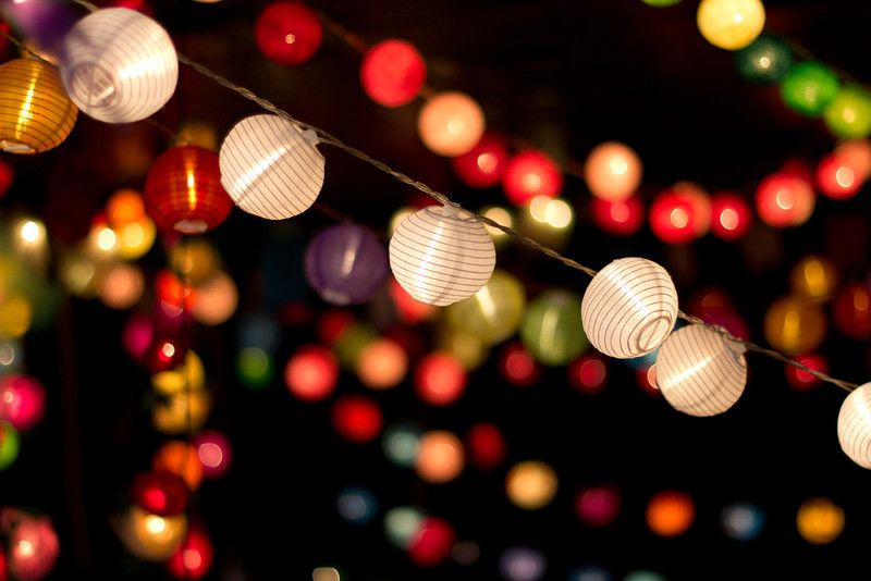 Paper Lanterns Like Jewels In The Night