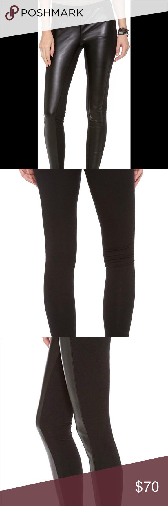 b2540231d99d9c Splendid Downtown Faux Leather Leggings size L Splendid downtown black faux  leather leggings Large Splendid Pants Leggings