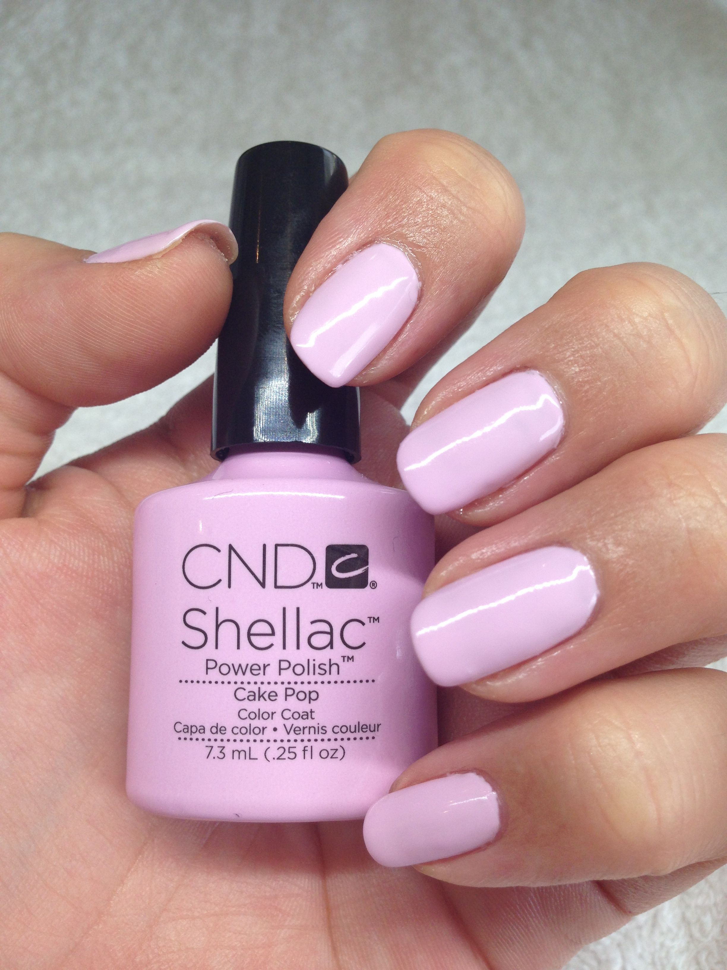 Pretty Nails Shellac Manicure Claramay Beauty One Of Our Faves Cake Pop Colour