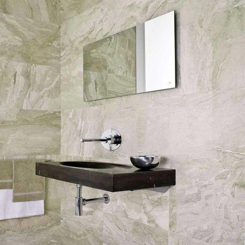 Carrelage Sol Mur Brillant 60x120cm Marbre Crema Niloka