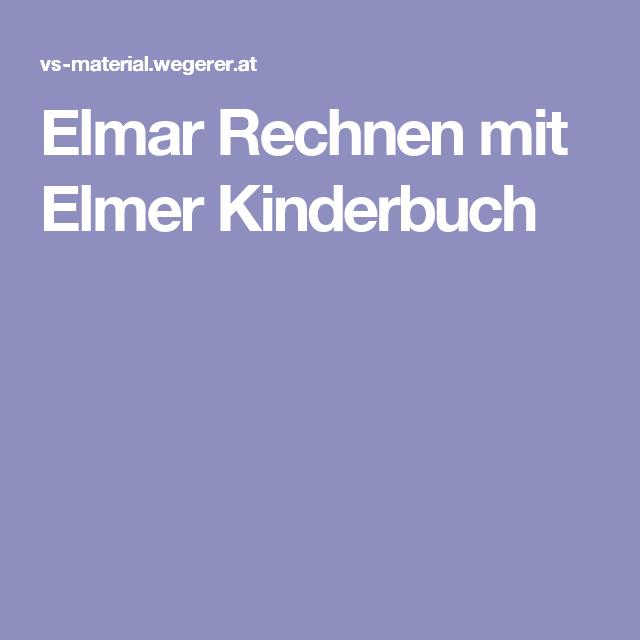 Elmar Rechnen mit Elmer Kinder Buch | Ideen zu Kinderbücher | Pinterest