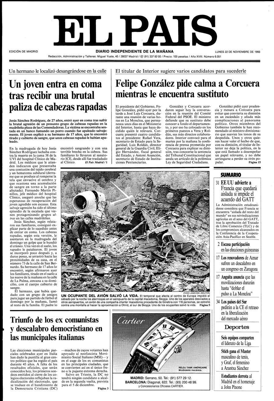 22 de Noviembre de 1993