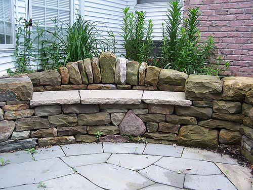 Dry Stone Bench Outdoors And Gardening Decorative