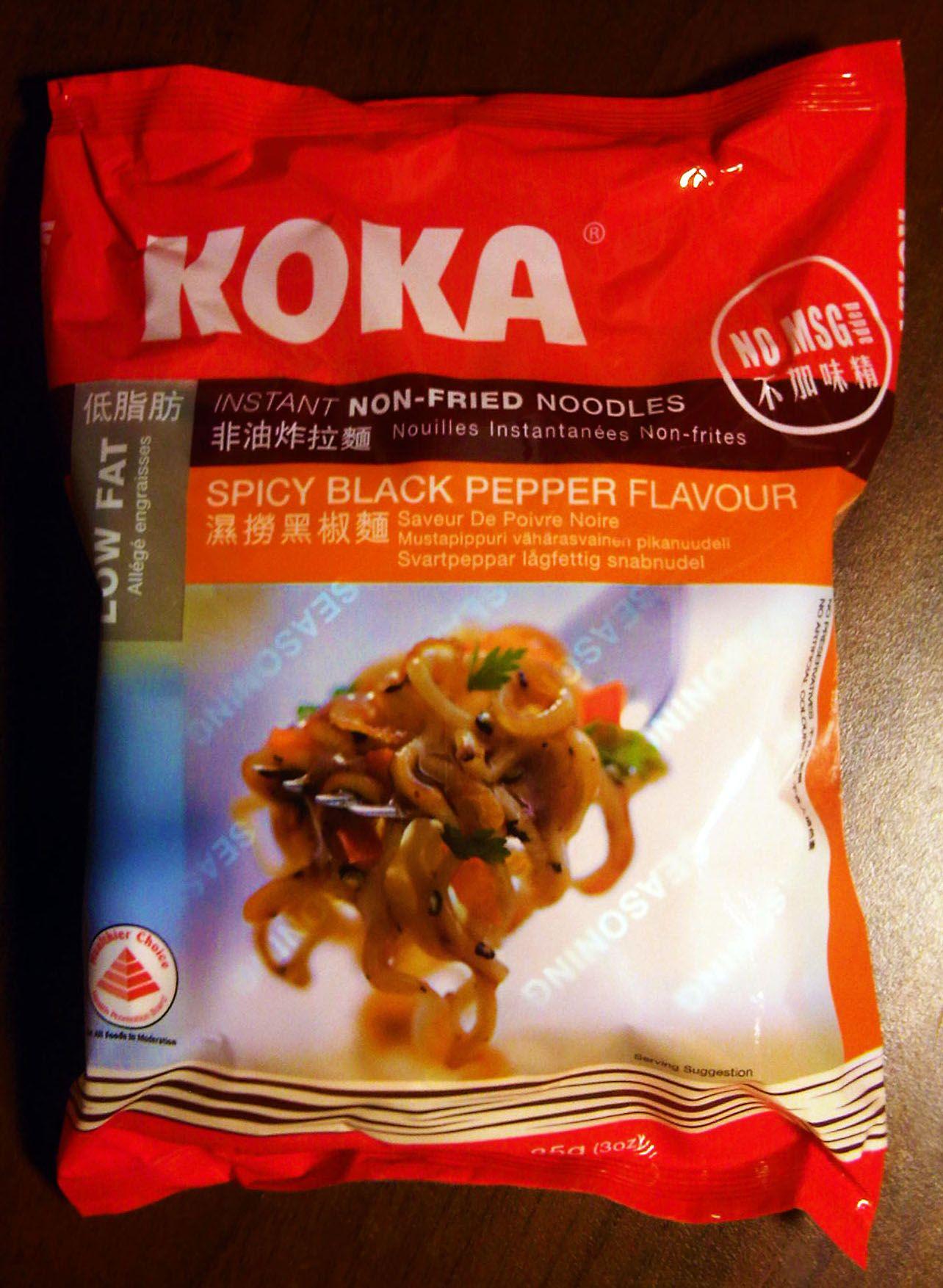 Koka Instant NonFried Noodles, Spicy Black Pepper Flavour