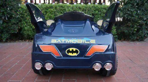 batman batmobile battery operated ride on kids car