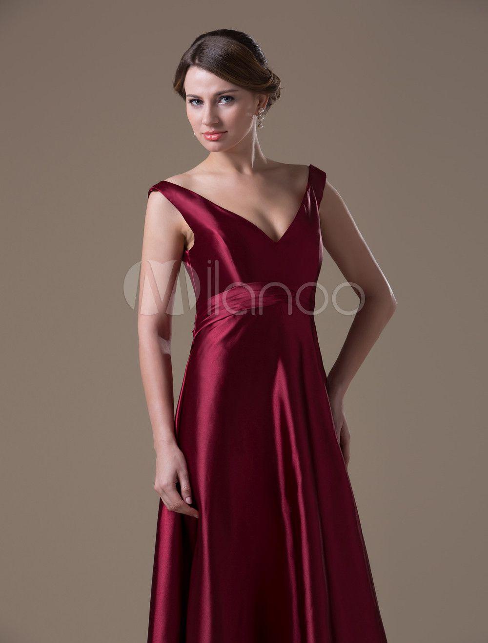 2b1846ca03c Burgundy Hot Spandex Satin Floor-length Maternity Bridesmaid Dress  Spandex