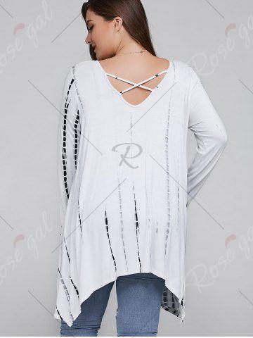 aebdb2fcd1e Plus Size Asymmetrical Cut Out Blouse - WHITE XL