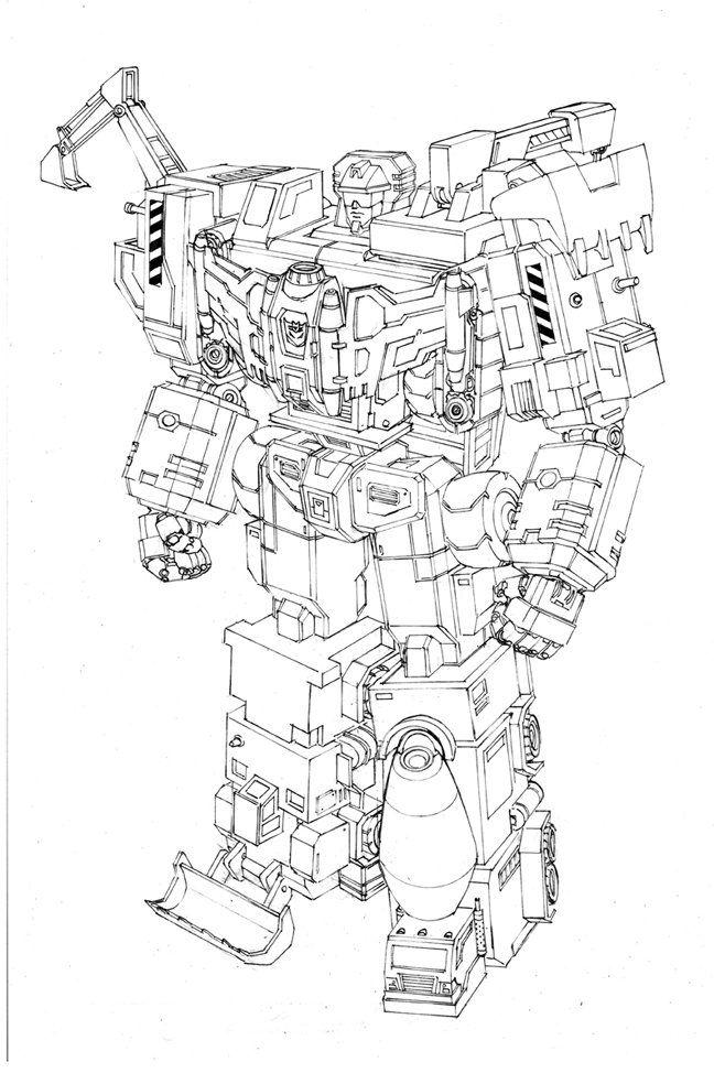 Machinima Combiner Wars Devastator Line Art Transformer World 2005 Optimus Prime Transformers Transformers Art 및 Line Art