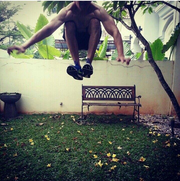 High jump #freeletics #motivation # pushharder #quitisnotanoption #healtylife #justdoit