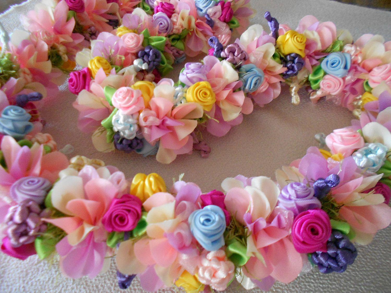 Wedding lei hawaiian lei ribbon lei rainbow shower tree rainbow shower tree hawaiian flower izmirmasajfo Image collections