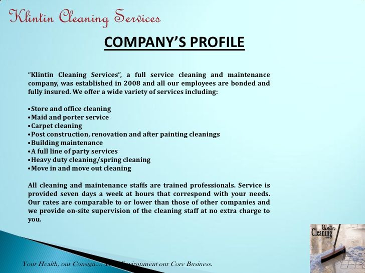 M Cleaning Services Presentation Sample Proposal Letter For
