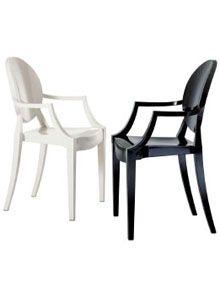 Louis ghost chair..Philipe Stark for Kartell...
