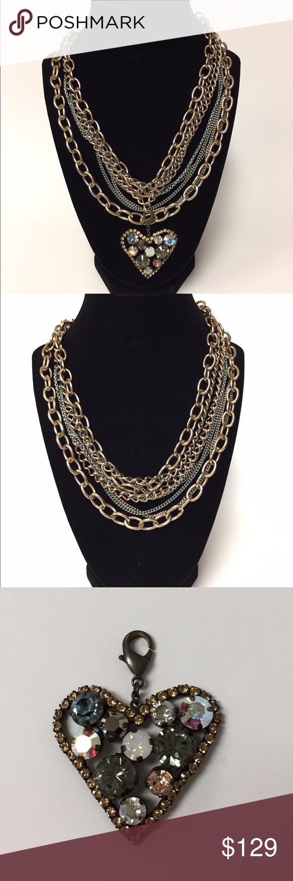 Sabika look necklace - Sabika Chain And Heart Pendant Set