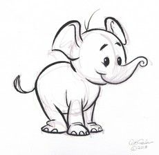 Draw Baby Elephant Images Pictures Elephant Cartoon Drawings