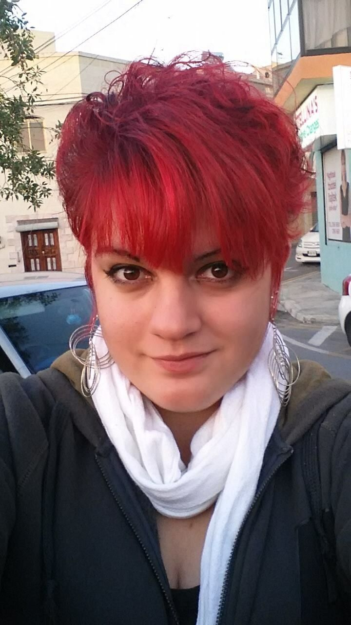 New hair style short red nails and hair pinterest hair style