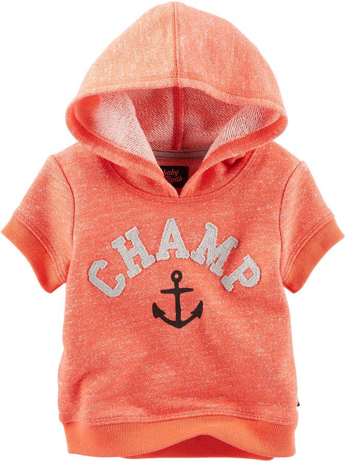 Oshkosh Baby Bgosh Short Sleeve Pullover Hoodie $9.59 At JCPenney Baby boys orange short-sleeve hoodie, soft French terry https://api.shopstyle.com/action/apiVisitRetailer?id=508437038&pid=uid841-37799971-81