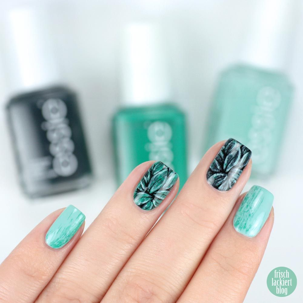 Dry Brush Stamping Nailart with Essie – Mint Candy Apple, ruffles ...