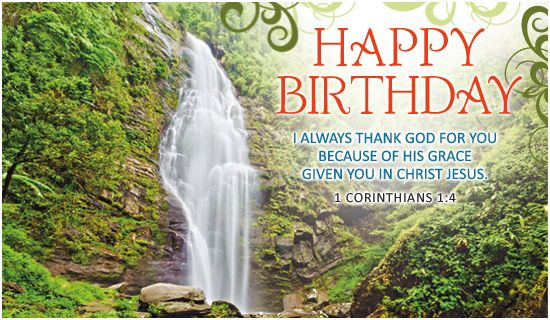 Free Birthday Waterfall ECard