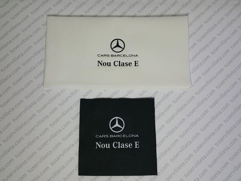 Todo lo que necesitas saber sobre Servilletas Impresas Mercedes-Benz. Entra para más información de como personalizar tus servilletas y posavasos.