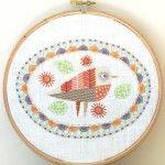 Nancy Nicholson - Embroidery Kit -  Bird 3