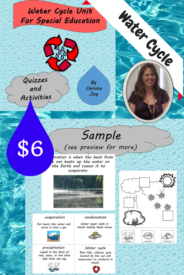 Water Cycle Unit for Special Education | Autism | Pinterest ...
