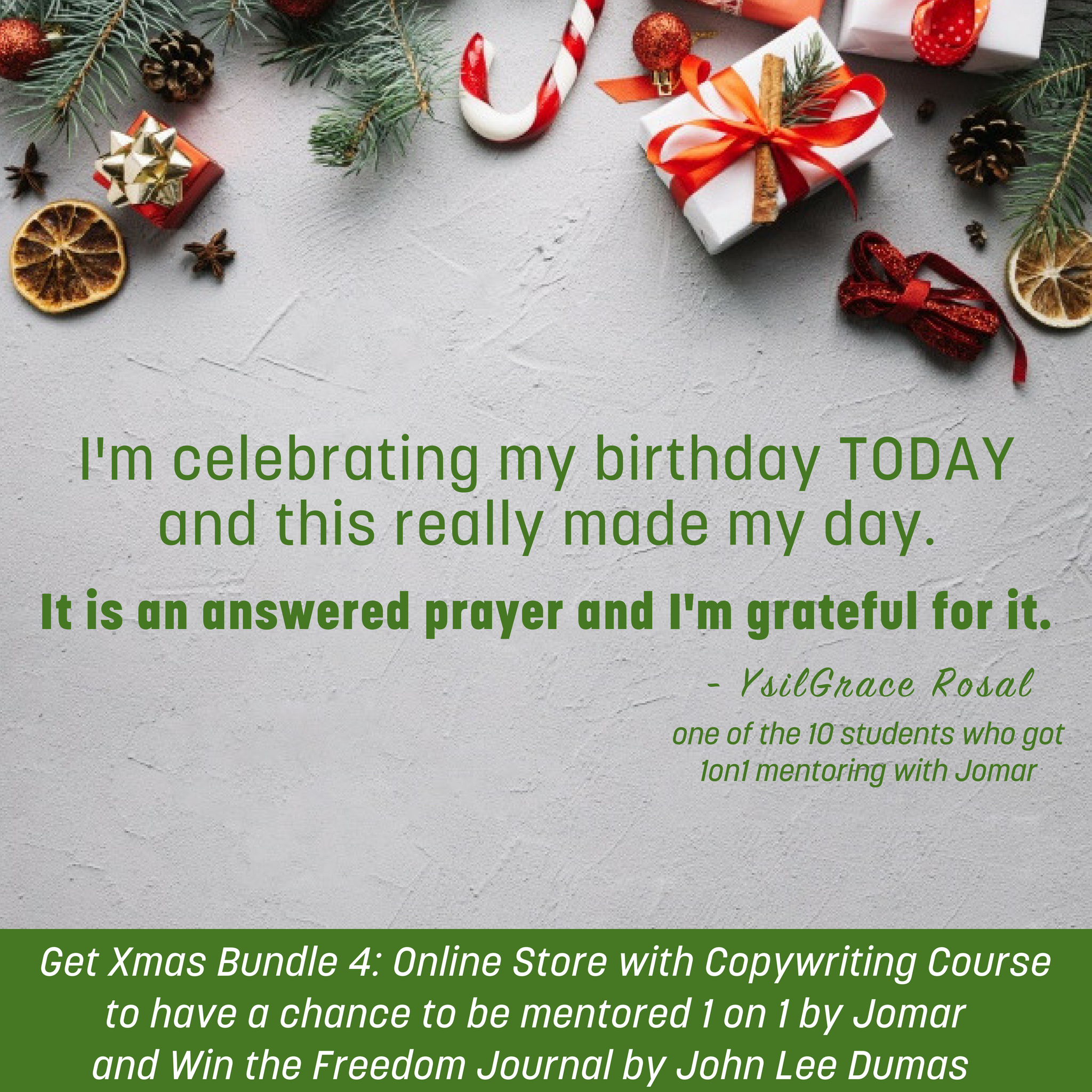 Merry Christmas everyone! . . . And Happy Birthday to me! I\'m ...