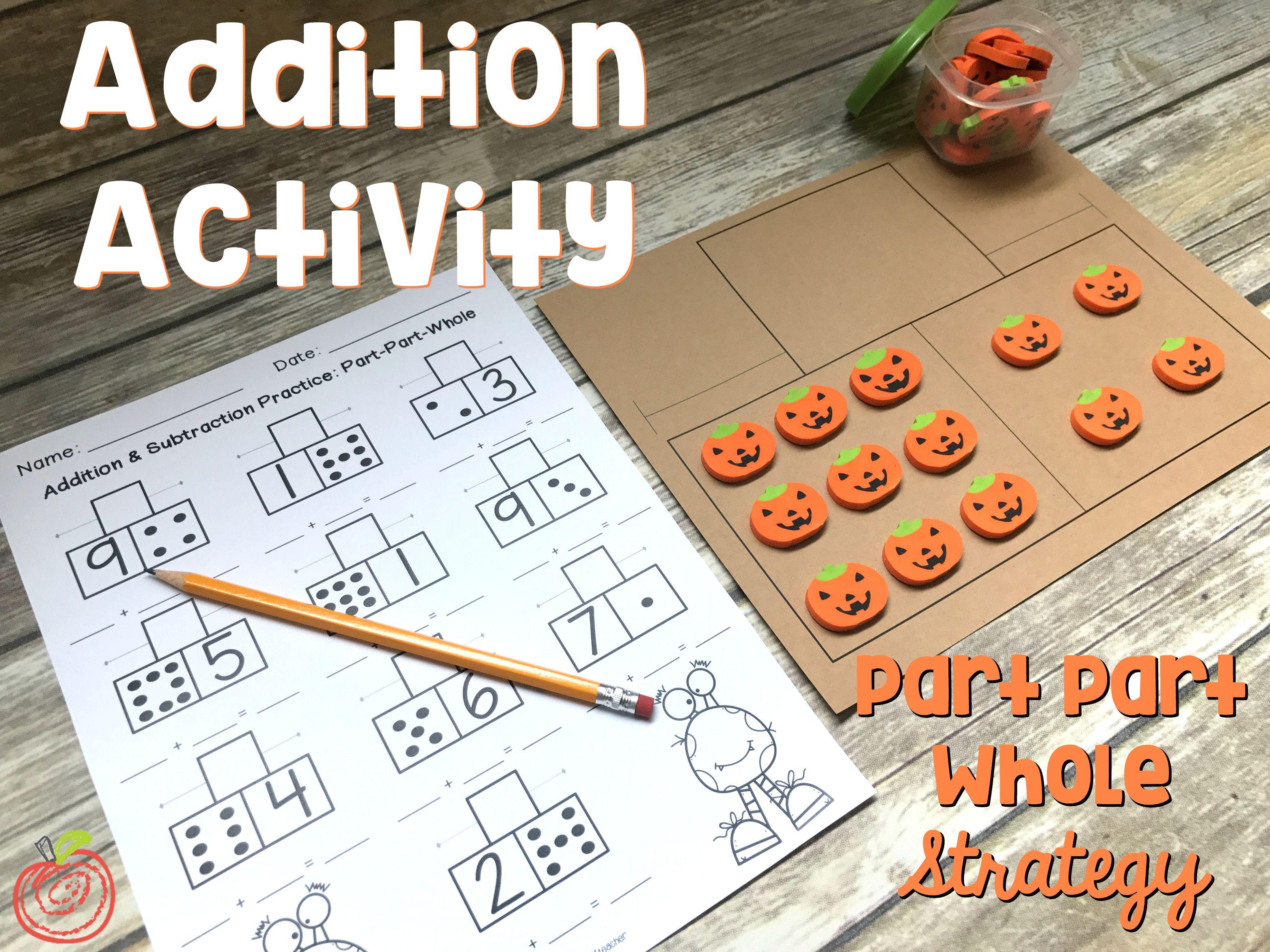 Addition Amp Subtraction Worksheets Part Part Whole